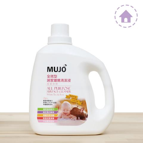 全效型居家環境清潔液〔白茶玫瑰〕2000G 贈木酢濕拭衛生紙1入